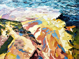 Fine Art Print  Colours of Longreef  - Palette Knife Textured Painting