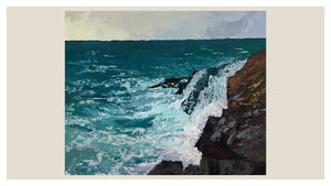 Wild Sea SOLD - Palette Knife Textured Painting