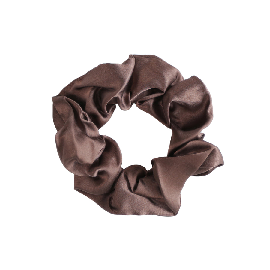 Large Chocolate Silk Hair Tie