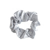 Large Silver Silk Hair Tie