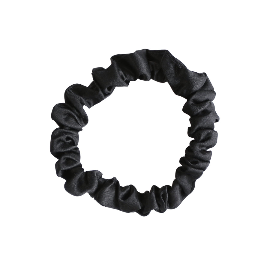 Small Onyx Silk Hair Tie