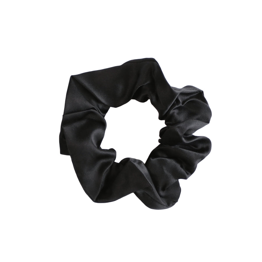 Large Onyx Silk Hair Tie