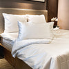 Silver Metal Super King Bedsheet Set