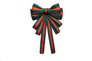 Cute Green&Red Bow