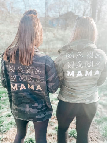 Camo Mama Zip Up Jacket