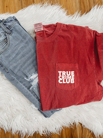 True Crime Club Pocket Tee