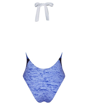 Boogaloo One-Piece Swimsuit Violetear Plunge - Back