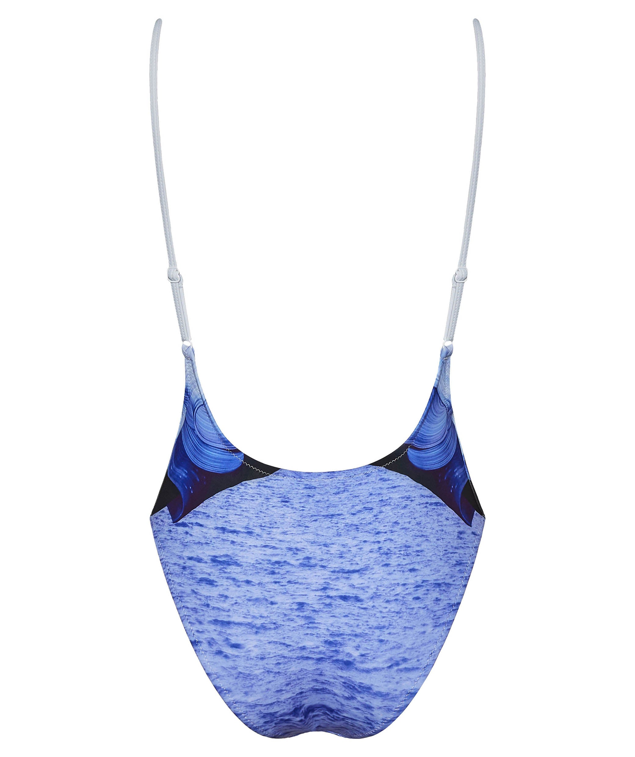 Boogaloo One-Piece Swimsuit Violetear Rib Plunge - Back