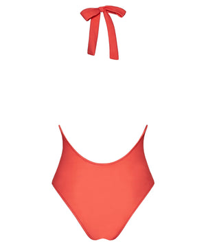 Boogaloo One-Piece Swimsuit Rio de Coral Plunge - Back