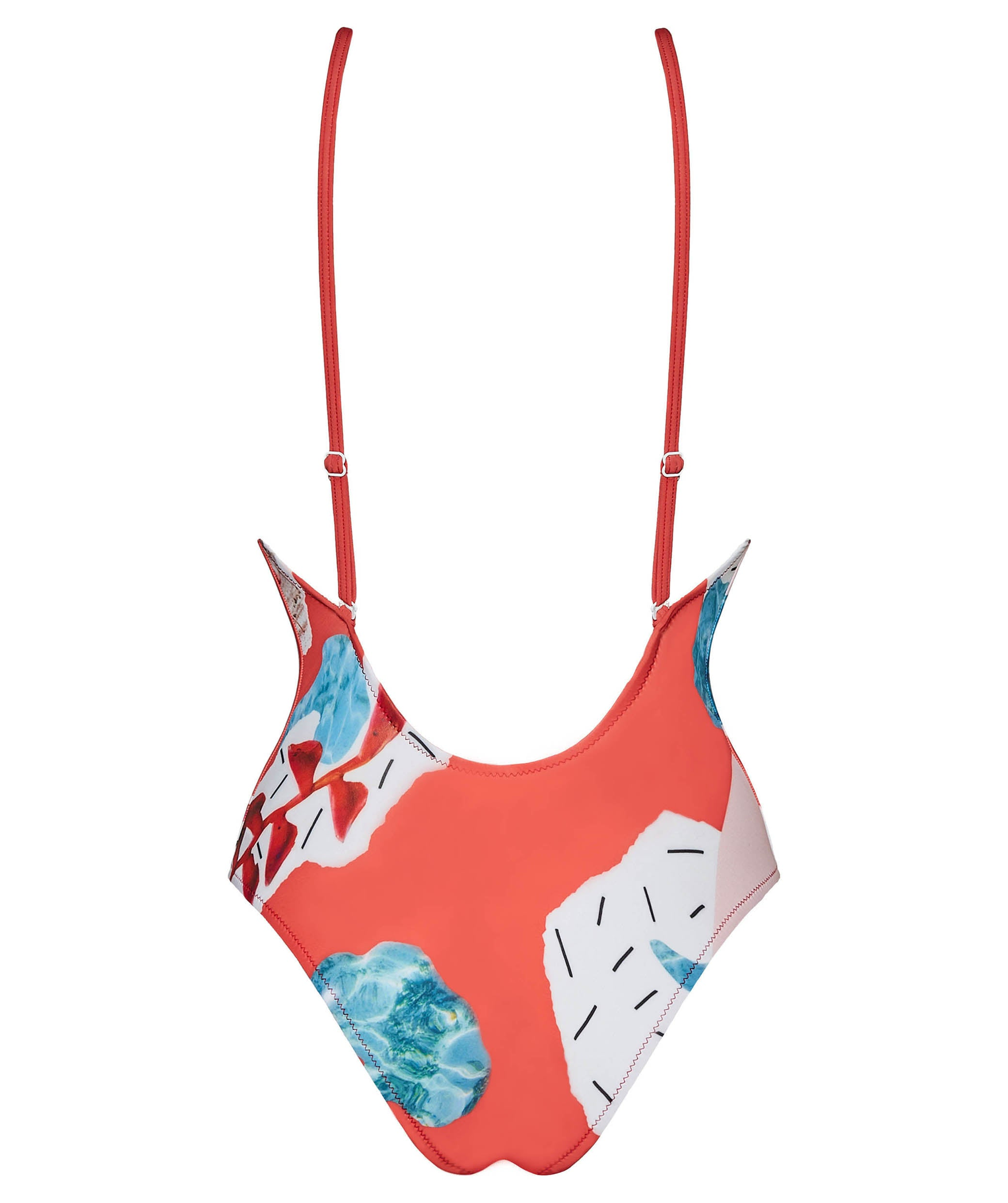 Boogaloo One-Piece Swimsuit Color Cross Back - Straight Back design