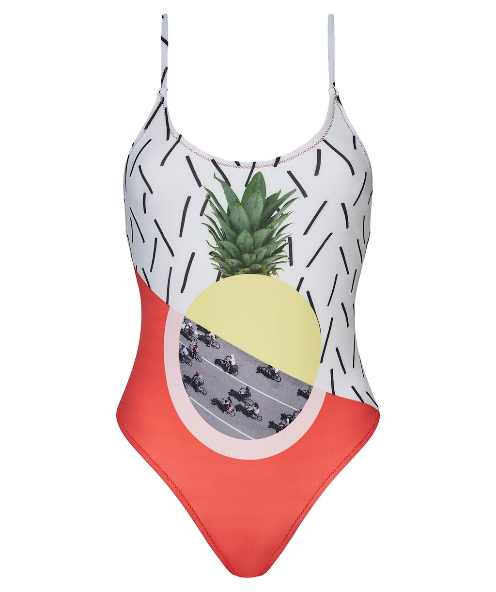 Boogaloo One-Piece Swimsuit Bici Cross Back - Front