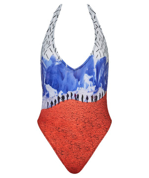 Boogaloo One-Piece Swimsuit HIELO Plunge - Front