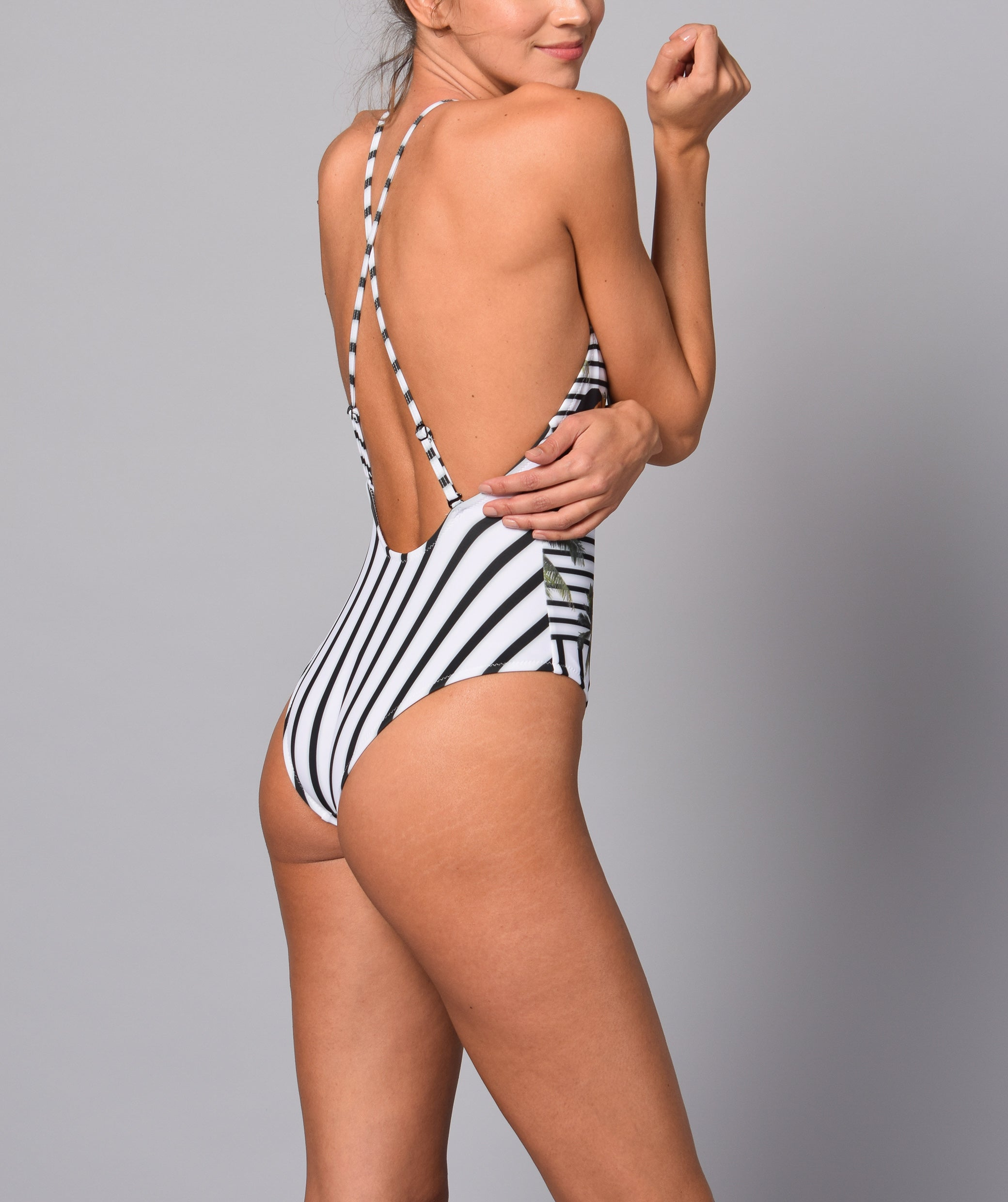 Boogaloo Girl wearing One-Piece Swimsuit TOCO Cross Back - Back