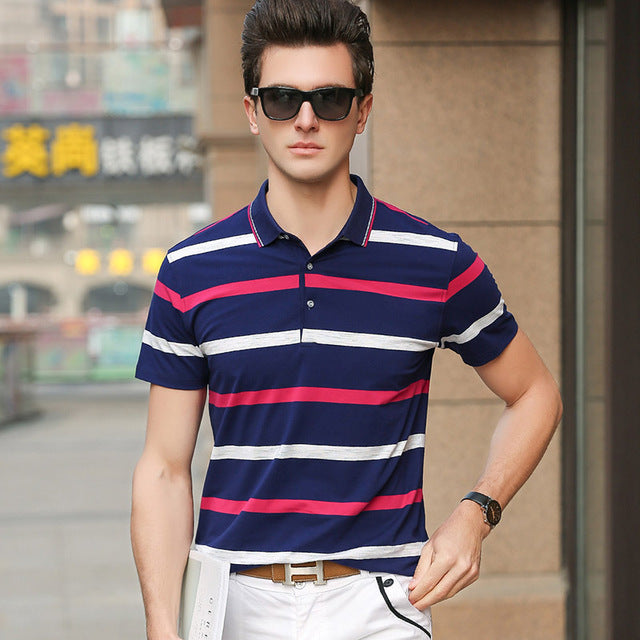 9e3d19f7c9d0 ... 2018 New Fashion Brands Mens Polo Shirts Street Wear Slim Fit Mens  Striped Polo Shirts With