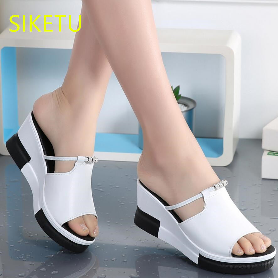 584bf05f6c47 SIKETU Free shipping Summer sandals Fashion casual shoes sex women shoes  flip flop Flat shoes Flats ...