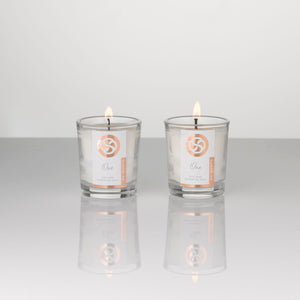 Soy wax, hand poured votive candles, scented with essential oils. suitable for vegans.