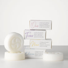 Load image into Gallery viewer, All natural plant based shampoo and body bar infused with an essential oil blend. Soap free, paraben free, sulphate free, palm oil free, plastic free.
