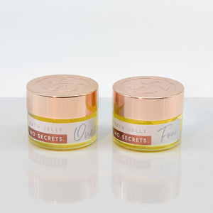 no secrets bath jelly made with 100% plant based natural ingedients two pack