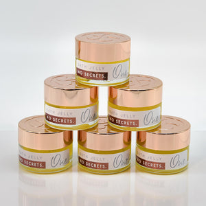 no secrets bath jelly 100% natural products free from harmful synthetic ingredients six jars