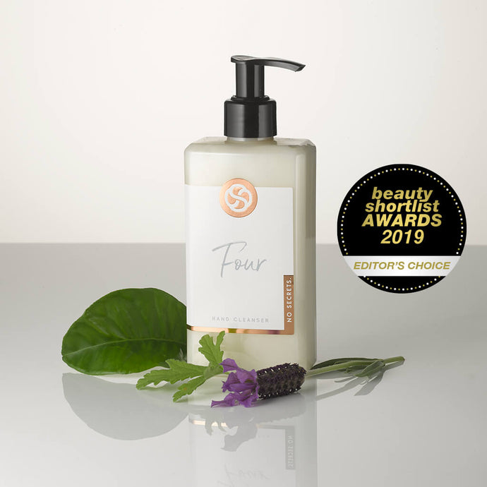No Secrets Award winning hand cleanser