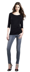 EP07 WOMEN'S 3/4 SLEEVE STRETCH T-SHIRT