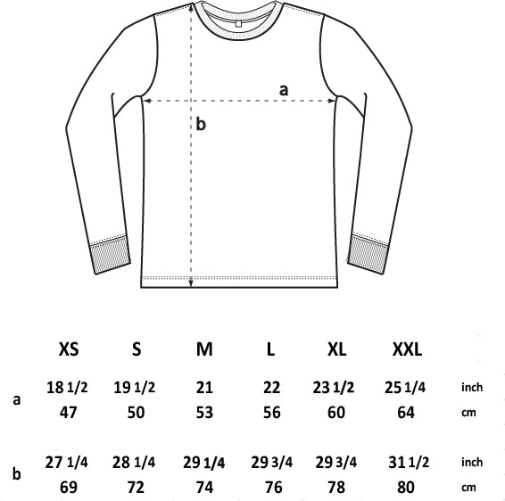 EP18L MEN'S / UNISEX HEAVY JERSEY LONG SLEEVE T-SHIRT