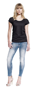 N14 WOMEN'S RAW EDGE JERSEY T-SHIRT