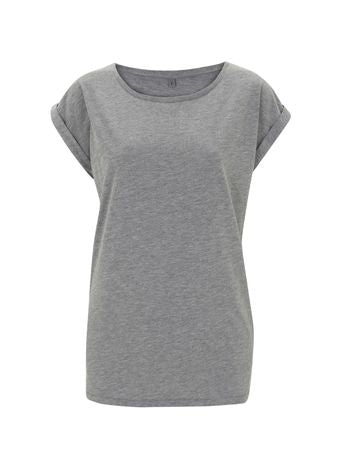 N20 WOMEN'S ROLLED SLEEVE TUNIC T-SHIRT