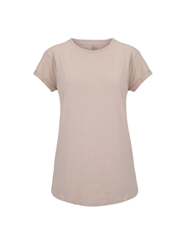 SA16C WOMEN'S ROLLED SLEEVE RECYCLED  T-SHIRT