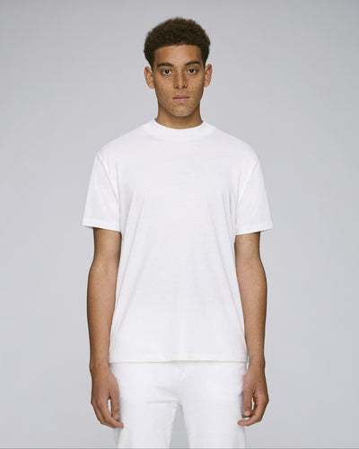 STTM527W STANLEY TRIMS THE MEN'S HIGH COLLAR T-SHIRT / WHITES