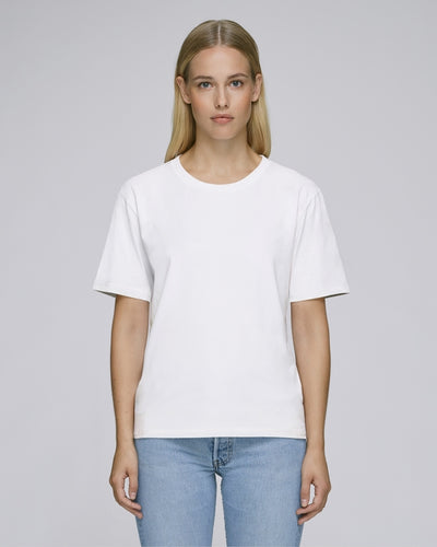 STTW010W STELLA FRINGES THE WOMEN'S HEAVY T-SHIRT / WHITES