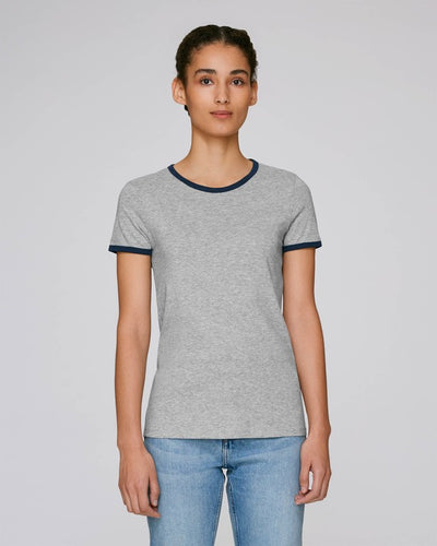 STTW061EH STELLA RETURNS THE WOMEN'S RINGER T-SHIRT / ESSENTIAL HEATHERS