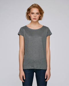 STTW431C STELLA GLOWS LINEN THE WOMEN'S LINEN T-SHIRT / COLORS