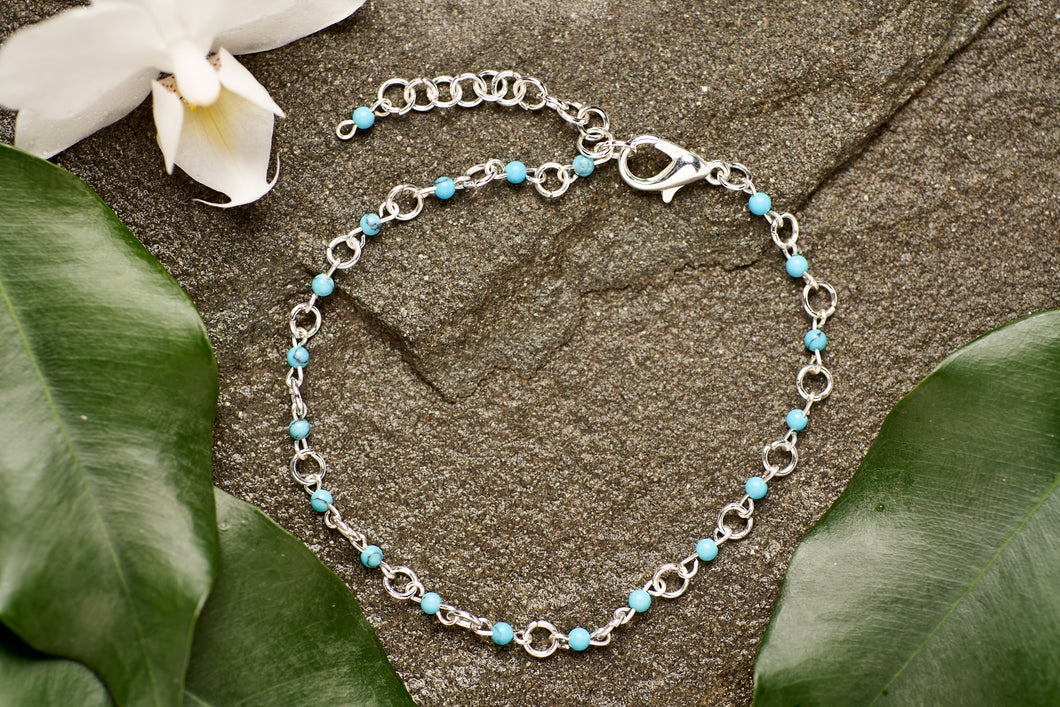 Turquoise with Silver Bracelet