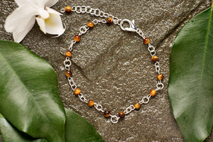 Tigers Eye with Silver Bracelet