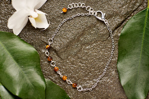 Tigers Eye with Stainless Steel Chain