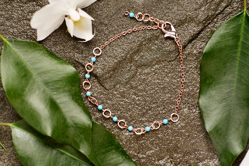 Turquoise in Copper Bracelet