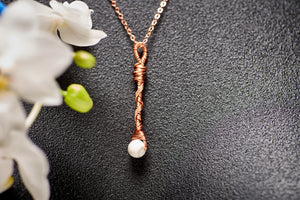 Howlite in Copper Long Charm Necklace