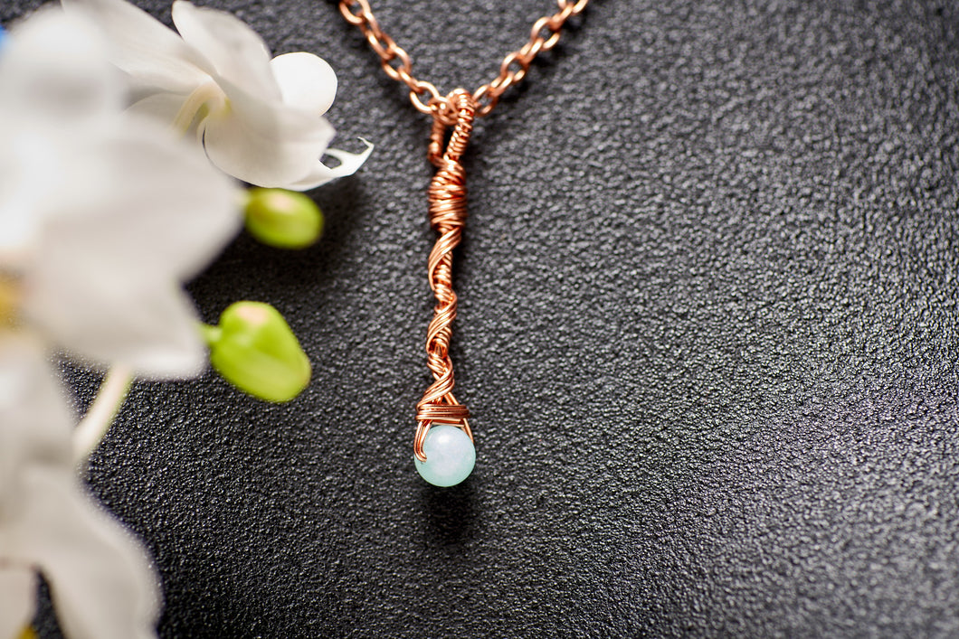 Save the Amazon Amazonite in Copper Long Charm Necklace