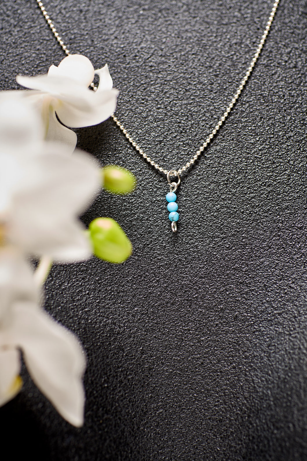 Teeny Tiny Turquoise Necklace in Gold