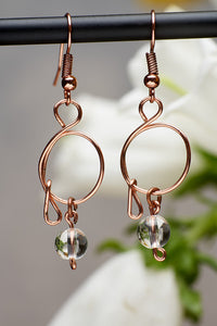 Copper and Quartz Earrings