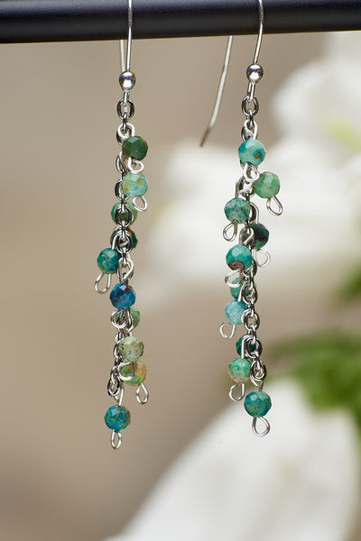 Dark Turquoise Dangly Earrings