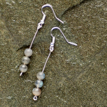 Long Round Labradorite Earrings