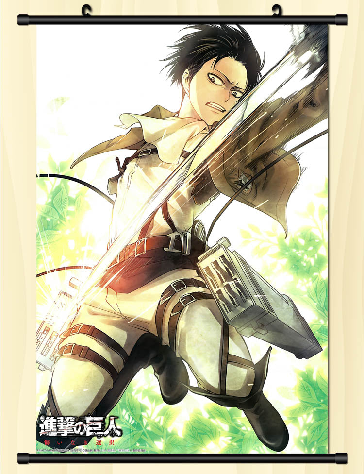Attack On Titan Fight Everyday Wall Scroll Poster