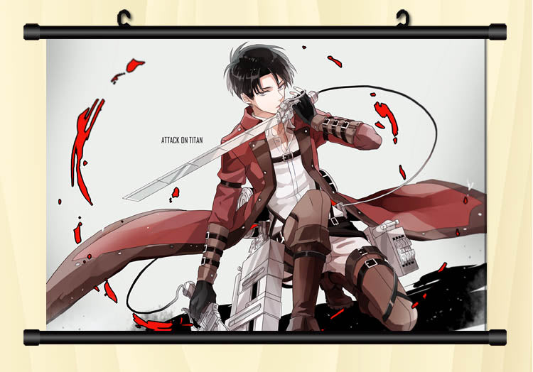 Attack On Titan Levi Battle Preparation Wall Scroll Poster