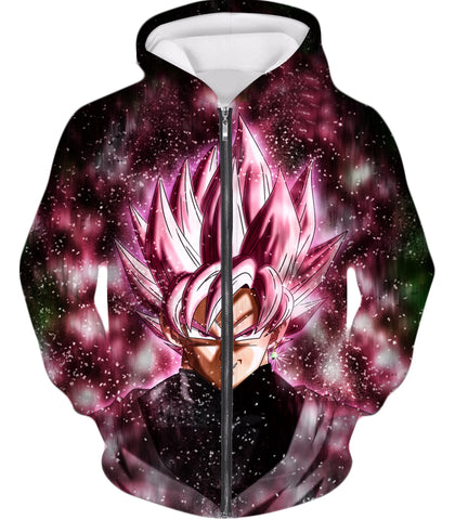 Dragon Ball Z Zip Up Hoodie - Super Saiyan Rose Black Goku