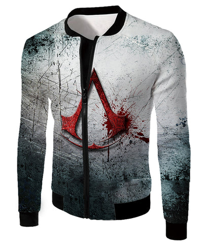 Super Cool Assassin's Creed Logo Promo Scratched Graphic Hooded Tank Top AC001