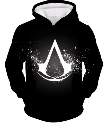 Amazing Logo Assassin's Creed Cool Black Hooded Tank Top AC010