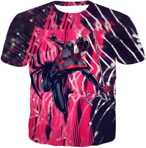 Image of Amazing Black Spiderman Animated Action Jacket SP100