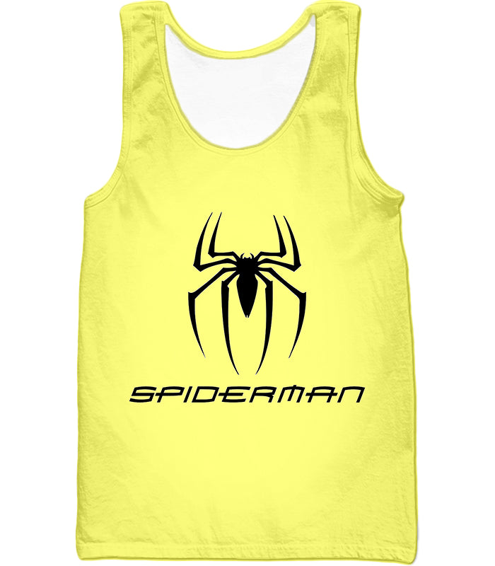 Awesome Spiderman Logo Promo Yellow T-Shirt SP123